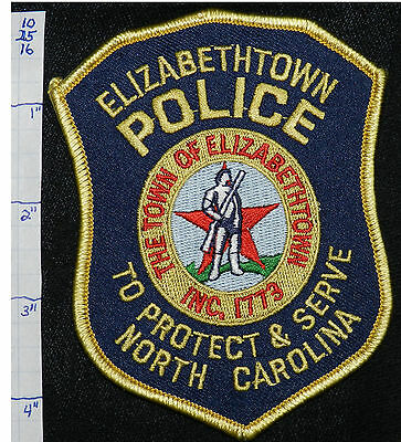 North Carolina, Elizabethtown Police Dept Patch