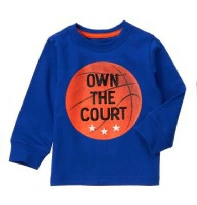 Gymboree Mix n Match Basketball Shirt Own The Court Long Sleeve Navy Boys 18-24