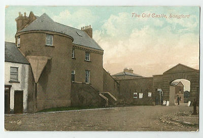 The Old Castle Longford Postcard Ireland County Tower and Gate View Antique