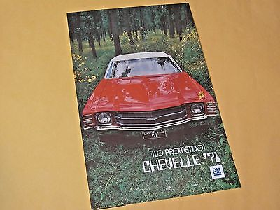 1971 Mexican Chevelle Sales Brochure..
