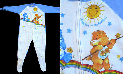 Retro CARE BEARS SLEEPER Original Unworn MiNt Funshine Size 4T Toddler 1980's