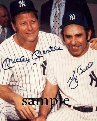 Mickey Mantle Yogi Berra Reprint Autograph Picture Photo Signed 8X10 Ny Yankees