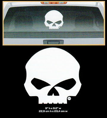 Harley Davidson Rear Window Willie G Skull Decal * Made In The Usa * Motorcycle