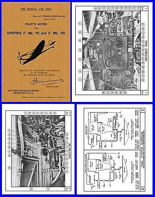 Spitfire Mk. VIII  RAAF Pilots Manual on CD