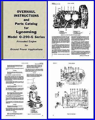 Lycoming O-290-G Ground Power Unit Manuals x3 on CD