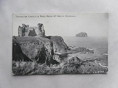 1930s B/W Postcard. Tantallon Castle & Bass Rock, nr North Berwick Law. Scotland