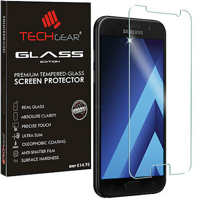 Genuine TECHGEAR TEMPERED GLASS Screen Protector for Samsung Galaxy A5 (2017)