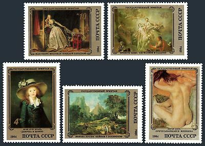 Russia 5310-5314,5315,MNH.Mi 5452-5456,Bl.177. Hermitage 1984.French Artists.