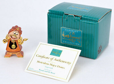 """Disney WDCC Beauty and the Beast - Miniature Cogsworth """"Meticulous Major Domo"""""""