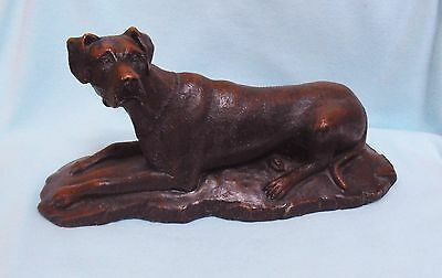 Unusual GREAT DANE lying down figurine Made in England ornament model dog