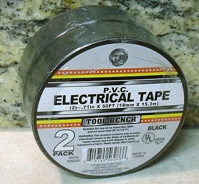 2 Roll Pack PVC ELECTRICAL TAPE - BLACK