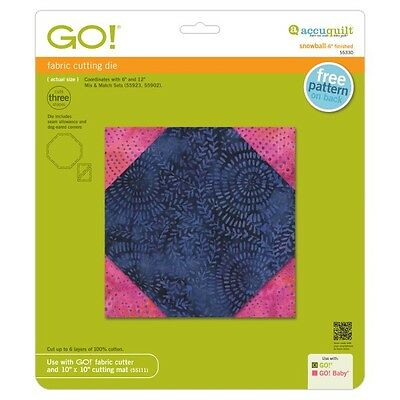 """Accuquilt GO! Fabric Cutting Die Snowball-6"""" Finished 55330"""