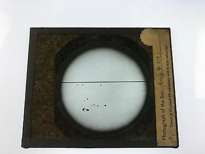 Sun Spots Goodsell Observatory Astronomy Antique Glass Magic Lantern Photo Slide