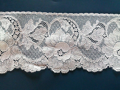 British Pretty Cluny Cotton Floral White Lace Wedding Trim Lingerie Nightdress