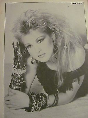 Cyndi Lauper, Michael Stanley Band, Double Full Page Vintage Pinup