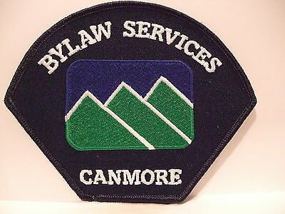 police patch  CANMORE BYLAW SERVICES CANMORE ALBERTA CANADA