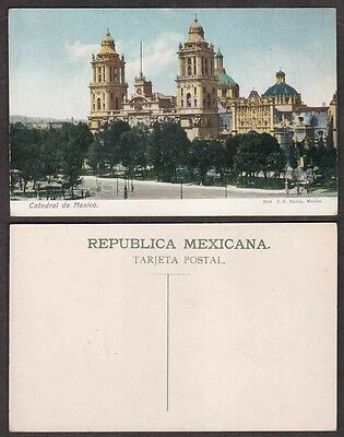 Old Mexico City Postcard - Cathedral