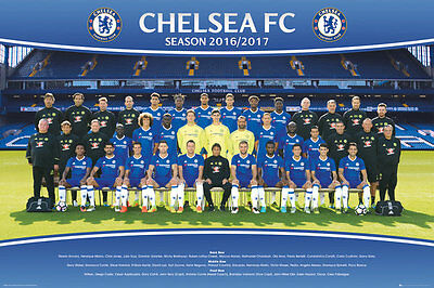 Chelsea FC Poster - Team 16/17 - New Chelsea Football poster SP1406