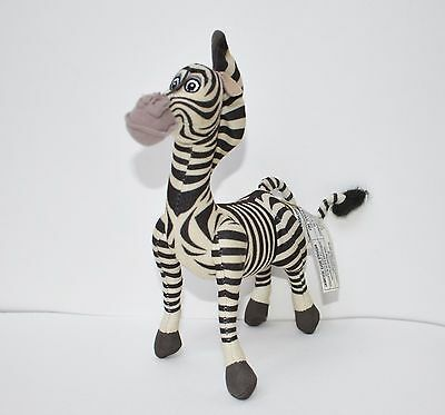 "Plush 8"" Madagascar Marty Zebra Dreamworks Hasbro 2004 2005"