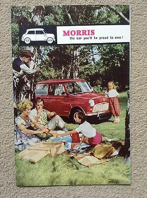 RARE MORRIS Sales Brochure from early 1960s - With full range of cars available
