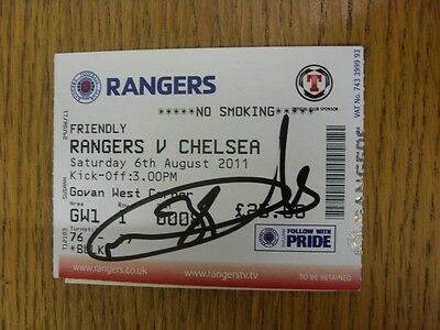 06/08/2011 Autographed Ticket: Rangers v Chelsea [Friendly] - Hand Signed By Nic