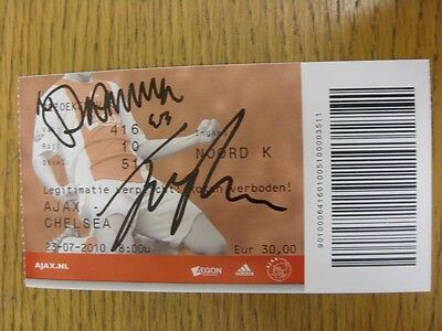 23/07/2010 Autographed Ticket: Ajax v Chelsea [Friendly] - Hand Signed By McEach