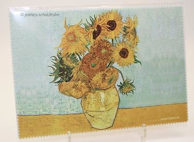 """Glasses Cleaning cloth van Gogh """" Sunflowers"""" cleaning cloth Microfibre"""