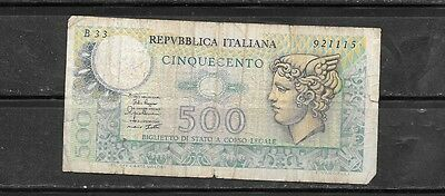 Italy #94 1979 Good Used 500 Lire  Old Banknote Paper Money Currency Bill Note
