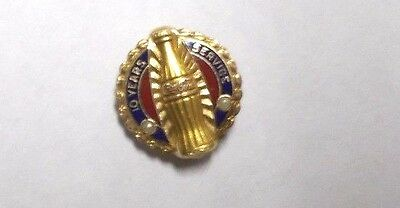 Vintage Coca-Cola 10 Year 10K Gold Service Pin with Pearls