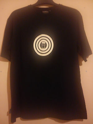 Guinness T Shirt Black With White Target Size M/l Official Merchandise Vgc
