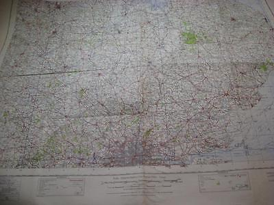 1940 Map Easr Anglia London Ipswich Nottingham Coventry sheet 9A large 42x33inch