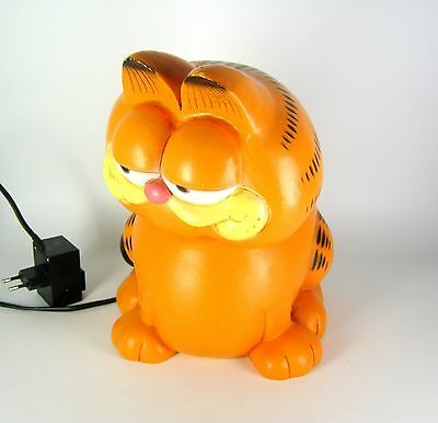 Garfield Kunststoff Lampe / Tischlampe 1981 Jim Davis Design Table Lamp RARE