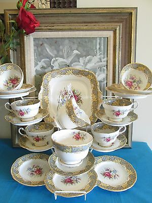 Paragon Vintage Fine Bone China 21 piece Tea Service - G5283 - Made in England