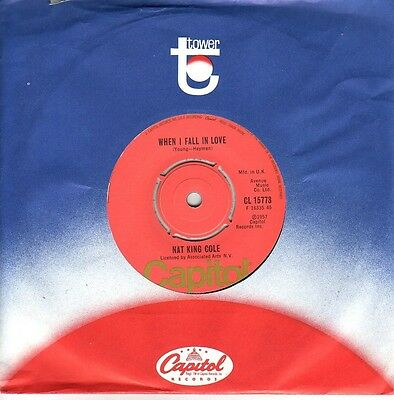 """7"" - NAT KING COLE - When i fall in love - UK-Pressung"
