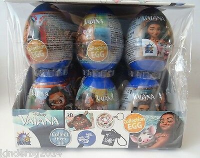 Plastic Surprise Eggs DISNEY VAIANA MOANA with theme related toys inside