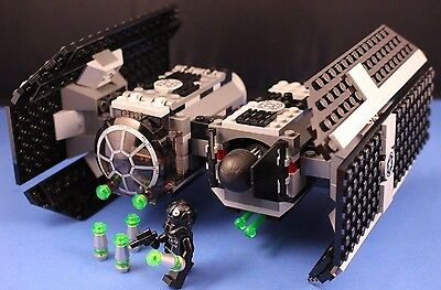 LEGO® brick STAR WARS™ Customized 4479 TIE BOMBER + Missiles Bombs & PILOT incl