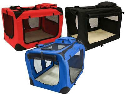 Pet Carrier Portable Folding Travel Dog Cat Puppy Fabric Crate Cage Foldable Bag