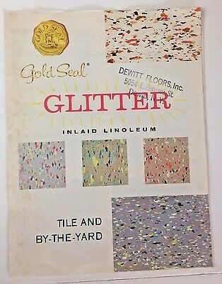 1950's GOLD SEAL GLITTER INLAID LINOLEUM TILE AND BY -THE - YARD DEWITT BROCHURE