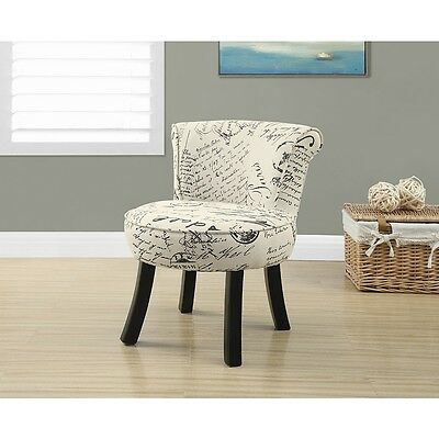 Monarch Juvenile French Script Pattern Chair - Cream