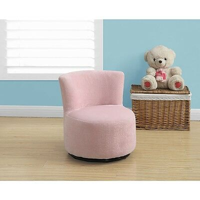 Monarch Fuzzy Juvenile Swivel Chair - Pink
