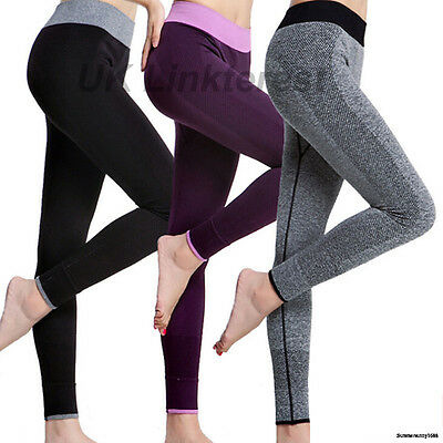 Slimming Womens Sports Gym Yoga Pant Workout Fitness Athletic Yoga Leggings S350