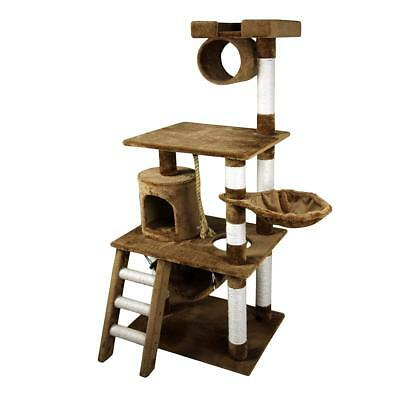 """61"""" Deluxe Cat Scratching Tree Kitten Condo Play House Kitty Furniture w/ Toy BN"""