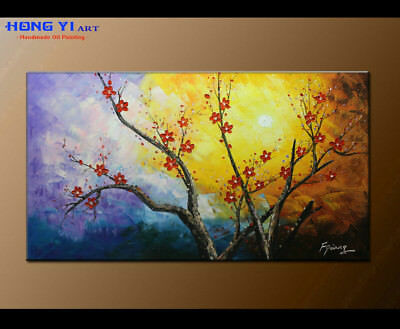 Stretched Wall Art Canvas Contemporary Abstract Floral Oil Painting Artwork 3604