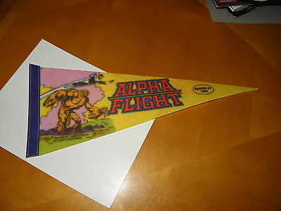 "1984 Marvel Comics Pennant Flag Series 1 John Byrne Alpha Flight 18"" x 7"" VF++"