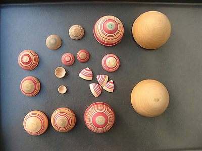 c1900 NESTING WOODEN EASTER EGGS - 9 - VICTORIAN ANTIQUE