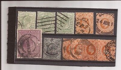 U.k.- 11 Used Stamps / Cancels / Small Price