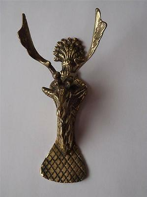 Deer Head Door Knocker Brass Decorative Large Horns Antlers