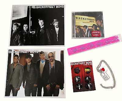 Backstreet Boys 6-Piece This Is Us Gift Set - Cd Pins Bracelet Necklace Photos
