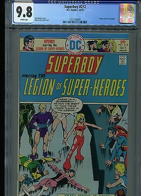 Superboy #212 CGC 9.8 (1975) Legion of Super-Heroes Single Highest Grade White