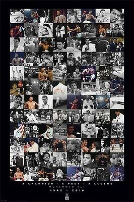 """Muhammad Ali Poster MONTAGE Brand New LARGE SIZE 61 cm X 91.5 cm """"BOXING"""""""